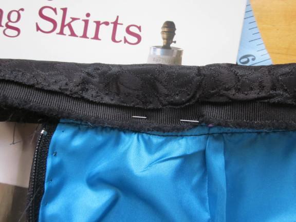 Fold the waistband over the petersham