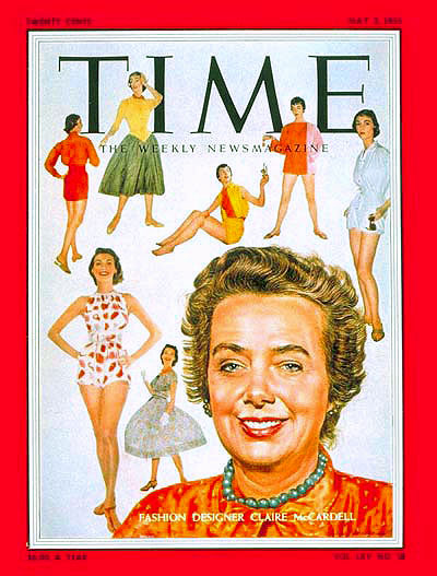 Claire McCardell cover of Time Magazine